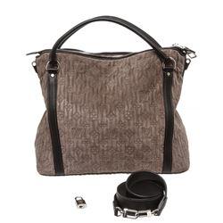 Louis Vuitton Grey Monogram Suede Leather Antheia IXIA PM Bag