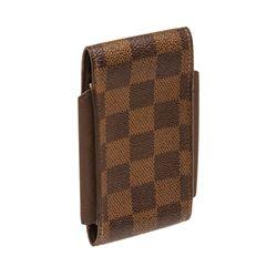 Louis Vuitton Damier Ebene Canvas Leather Cigarette Holder Case