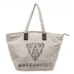 Gucci Beige GG Canvas Gucci Museo Tote Bag