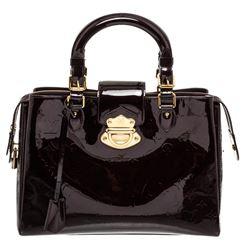 Louis Vuitton Dark Purple Amarante Vernis Leather Melrose Avenue Handbag