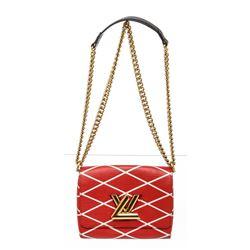 Louis Vuitton Red Epi Leather Malletage Twist PM Bag