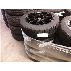 Set of 4 TIRE WHEEL PACKAGE - KONIG FORMULA GLOSS BLACK  - 16X7 5/100-4.5 - With New ANTARES WINTER