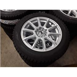 Set of 4 TIRE WHEEL PACKAGE - KONIG FORMULA GLOSS SILVER - 16X7 5/100-4.5 - With New  ANTARES WINTER