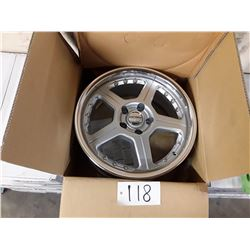 Set of 4 New In Box VOXX WHEELS FERRARO SILVER MACHINED RIMS - LIP 66.7  ML17X7 5X112 +32
