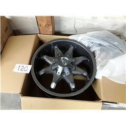 Set of 4 New In Box  ION RIMS Graphite Finish - 20X9  181  8-180  18MM  124.1