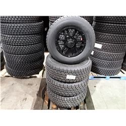 "Set of 4 TIRE WHEEL PACKAGE  18"" - 4 new All Season Antares SSMTA7 - 33x12.50R18 - mounted on ION 17"