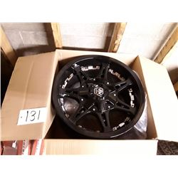 Set of 4 New In Box Mayhem Missile Black Dual Drilled Rims - 130.8mm - 18x9 8-165.1/8-170 +18
