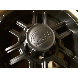 Set of 4 New In Box  ION 179 MATTE BLACK Rims - 130.8mm - 17X8 8-170  +10
