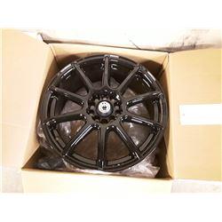 Set of 4 New In Box KONIG FORMULA GLOSS BLACK Dual Drilled Rims - 17X7.0   5X115-110 +40