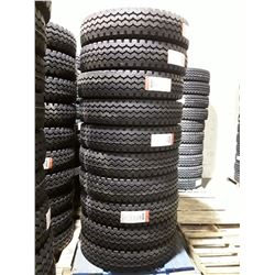 Set of 10 New Mixed Service Trailer AZ126 Commercial Tires 11R24.5 16 ply