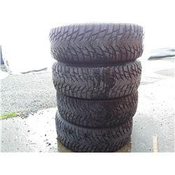 Set of 4 Used Tires 102 Blacklion 215 60 R16