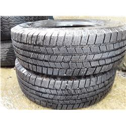 Set of 2 Used Tires 103 Michelin LTX m/s LT245/70 R17