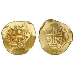 Mexico City, Mexico, cob 8 escudos, (17)08J, NGC MS 61, ex-1715 Fleet (designated on special label).