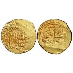 Mexico City, Mexico, cob 8 escudos, 1713J, NGC MS 63, ex-1715 Fleet (designated on special label).