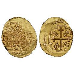 Mexico City, Mexico, cob 8 escudos, Philip V, (1713)J, NGC MS 63, ex-1715 Fleet (stated on label).