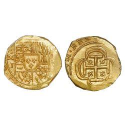 Mexico City, Mexico, cob 2 escudos, (1714)J, NGC MS 66, ex-1715 Fleet (designated on special label).