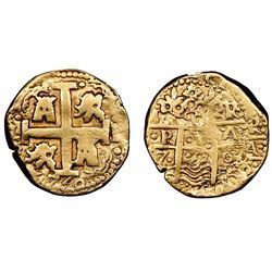 Lima, Peru, cob 8 escudos, 1750R, NGC VF details / edge filing.
