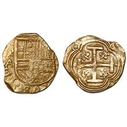 "Bogota, Colombia, cob 2 escudos, Philip IV, assayer A below mintmark NR to left, ex-""Mesuno Hoard"" ("