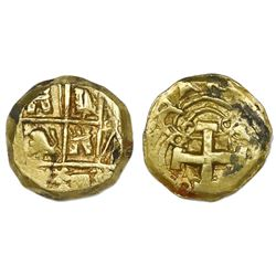 Bogota, Colombia, cob 2 escudos, Philip V, assayer and mintmark not visible (1730s).