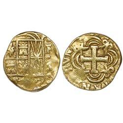 Bogota, Colombia, cob 2 escudos, Ferdinand VI, assayer to left not visible (S), mintmark FS to right