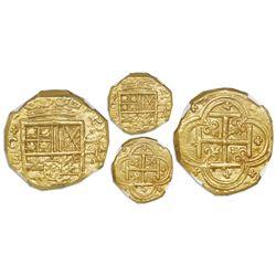 Cartagena, Colombia, cob 2 escudos, Philip IV, assayer E below mintmark C to left (style of 1632-3),
