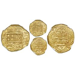 Cartagena, Colombia, cob 2 escudos, Philip IV, assayer E below mintmark C to left (style of 1632-3),