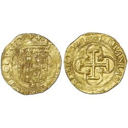 Seville, Spain, 1 escudo, Charles-Joanna, assayer * to right, mintmark S to left, NGC MS 63.
