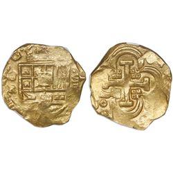Seville, Spain, cob 8 escudos, Philip IV, assayer R, NGC MS 61.