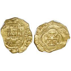 Seville, Spain, cob 2 escudos, 1629(R ), NGC AU 55.