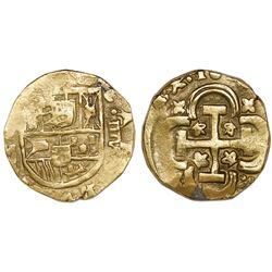 Seville, Spain, cob 8 escudos, 16(88)M, denomination IIIV, rare.