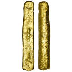 "Cut gold ""finger"" bar, 457 grams, no fineness markings ex-Atocha (1622)"
