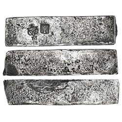 Neatly formed Dutch silver ingot, 1951 grams, about 98.5% fine, stamped with Zeeland/Middelburg cham