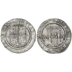 """Mexico City, Mexico, 2 reales, Charles-Joanna, """"Late Series,"""" assayer G to left, mintmark M to right"""
