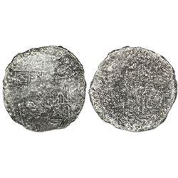 Potosi, Bolivia, cob 8 reales, Philip III, assayer R (curved leg), Grade 3, vintage certificate.