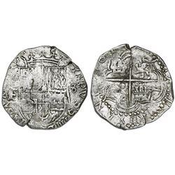 Potosi, Bolivia, cob 8 reales, 161(8)T/T/PAL, Grade 1.