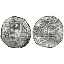 Potosi, Bolivia, cob 8 reales, (1)6(1)9T, Grade 2.