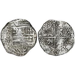 Potosi, Bolivia, cob 8 reales, 162(?)T, Grade 2.
