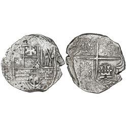 Potosi, Bolivia, cob 4 reales, (1618)PAL, rare, Grade 1.