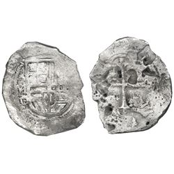 Mexico City, Mexico, cob 4 reales, (16)19/8D/F, very rare, Grade 2, NGC shipwreck effect / Sao Jose.