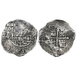 Mexico City, Mexico, cob 8 reales, Philip IV, assayer D, PCGS XF details / Fleet of 1628.