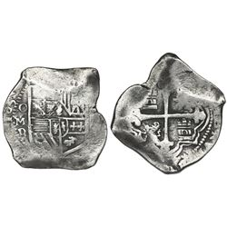 Mexico City, Mexico, cob 8 reales, 1631D, very rare.