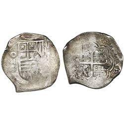 Mexico City, Mexico, cob 8 reales, (16)32D, rare.
