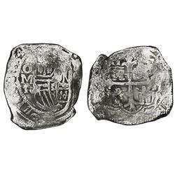 Mexico City, Mexico, cob 8 reales, 1634P/D, rare.