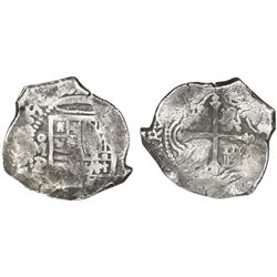 Mexico City, Mexico, cob 8 reales, (16)39/8P.