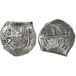 Mexico City, Mexico, cob 8 reales, 1640P.