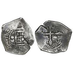 Mexico City, Mexico, cob 4 reales, 1641(?)P.