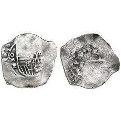 Mexico City, Mexico, cob 2 reales, 1636P, rare.