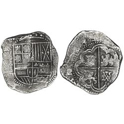 Potosi, Bolivia, cob 8 reales, 1634T.