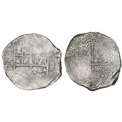 Potosi, Bolivia, cob 8 reales, 1640TR, rare.