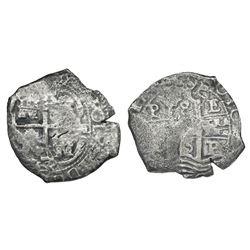 Potosi, Bolivia, cob 8 reales, 1676(?)E.